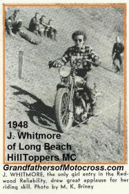 1950 5-7 a6 LBHT members EARL HARRIS married Jeanette Whitmore Triumph rider, moved to Australia & returned