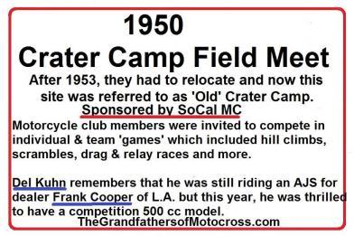 Crater Camp SoCal MC, Del Kuhn, Frank Cooper, AJS