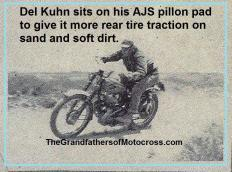 1951 4-15 a8aa 10th Annual Seacoast, Del Kuhn on the pillion pad to get better traction