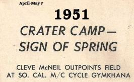 1951 6-0 cc1 Old Crater Camp Field Meet means Spring is here