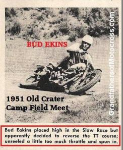 1951 6-0 cc12 BUD EKINS TT run at FIELD MEET Old Crater Camp