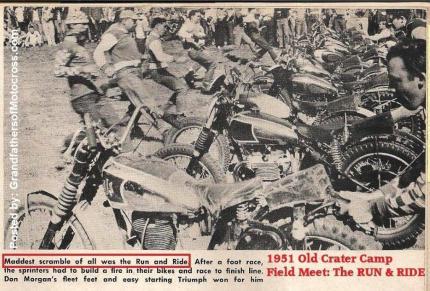 1951 6-0 cc9 DON MORGAN Old Crater Camp The RUN & RIDE at Field Meet