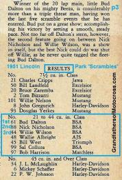 1951 L9b RESULTS of Lincoln Park Nite Owls MC Scrambles,