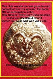1952 12-7 a3b Rams MC H&H National Championship pin