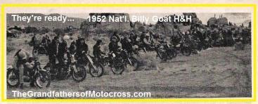 1952 12-7 a4e Men & motors lining up for Natl. Billy Goat Run
