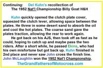 1952 12-7 c6d Del Kuhn's recollection of this 1952 Nat'l H&H race