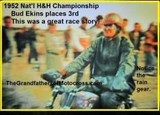 1952 12-7 d8 Natl. H&H Bud Ekins in 3rd