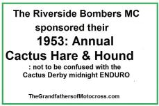 1953 2-1a Riverside Bombers MC Cactus H&H, not Derby