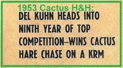 1953 2-1d Del Kuhn wins Cactus H&H, Riverside Bombers MC