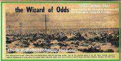 1953 2-1e The Wizard of Odds, Del Kuhn wins Cactus H&H