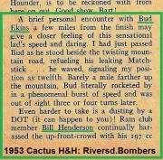 1953 2-1g Bud Ekins on Matchless, Ram MC Bill Henderson on DOT
