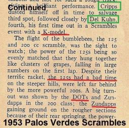 1953 4-0 s5b, P.V. Scrambles articles, Cripps, Kuhn, DOTS, Zundapps