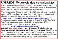 1953 5-0r1 but 1948 July 4 Riverside Riots, motorcycle Hollister-like reported