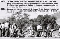 1954 2-0L left in helmet Del Kuhn #21 on Triumph at new Crater Camp at Scrambles