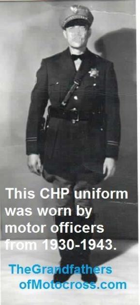 c1 1950 A CHP uniformed officer 1940s