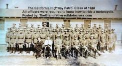 c3 California Highway Patrol CHP 1930 cadet class