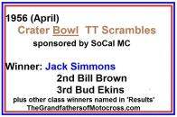 Crater Bowl, Jack Simmons, Bill Brown, Bud Ekins