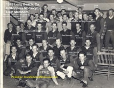 1954 a10 1948 c. Long Beach HillToppers mc Club members, Del Kuhn working