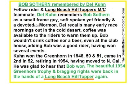 1954 a14 Del Kuhn remembers Bob Sothern of the Long Beach Hilltoppers MC