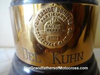 1992 4-25 a18 1948 trophy Riverside Bombers MC CACTUS DERBY, Del in 8th place, trophy by Valley Cycle of San Ber.