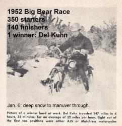 1992 4-25 a33 Del Kuhn tells of 1952 1-6f Big Bear 1st place on AJS