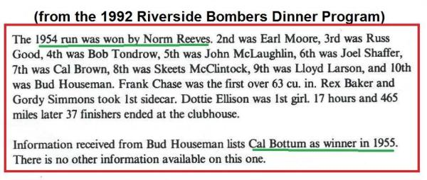 1992 4-25 a40 Norm Reeves 1954 winner Cactus Derby history from Bombers banquet dinner