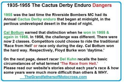 1992 4-25 a45 1955 Cactus Derby won Cal Bottum & Cactus Derby racing dangers