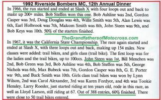 1992 4-25 a55 1967 CACTUS DERBY, John Steen, B. Menchen, Bob Green, b. Ashline, B. Steffan, Geo. Nichols, Bubeck, Casper, Ported, B. Smith