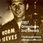 1957 6-1b1 Norm Reeves 2nd class, 3rd overall in Greenhorn (unk date of photo)