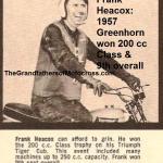 1957 6-1b5 Greenhorn 250cc & 9th overall winner Frank Heacox,