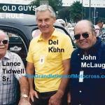 1957 6-1c NOT but 1989 Lance Tidwell Sr.,1957 widecar winner, with Del Kuhn & John McLaughlin