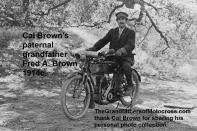 2015 5-0 pg 1c 1914c. Fred Arthur Brown, Cal Brown's grandfather