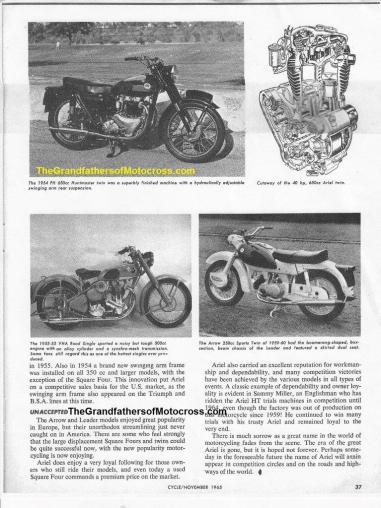 2015 5-0 pg 5h but 1965 Ariel cycle story author Cal Brown