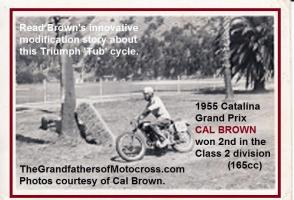 Catalina 1955 5-14 a1 Catalina, Cal Brown on his Triumph TUB
