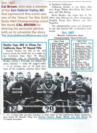 H&H 1957 10-13 a3 Cal. H&H State Championship, Hockie, White, Ekins