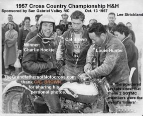 H&H 1957 10-13 a4 CC Championship won by Charlie Hockie, Cal Brown & Louie Hunter SGVMC, rear Lee Stickland