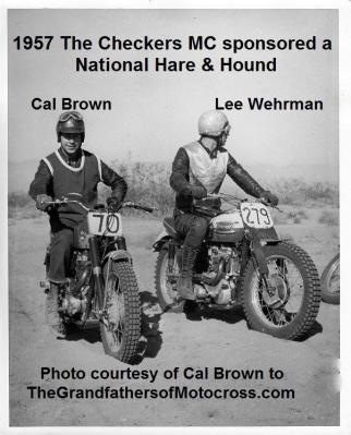 Hare & Hound Checkers MC a2 1957, a National, CAL BROWN & LEE WEHRMAN