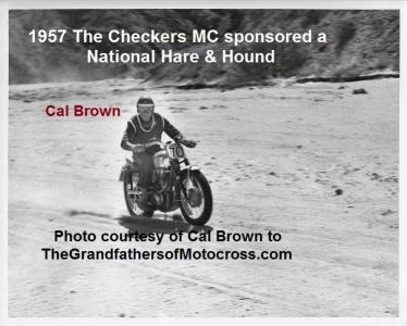 Hare & Hound Checkers MC a3 1957, National, CAL BROWN at RED ROCK CANYON