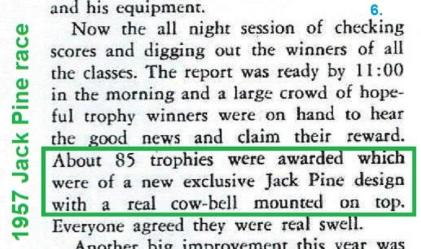 Jack Pine 1957 9-2 a11a Jack Pine Enduro, cow bell trophy