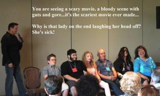 scarey movie, Vicky laughs