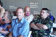Betty, Bruce, Art & Richard watch