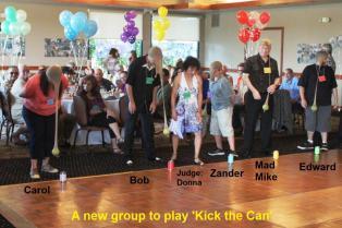 Kick the can, group 2 Carol, Bob, Zander, Mike, Edward