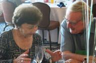 Jan explains something to Neil