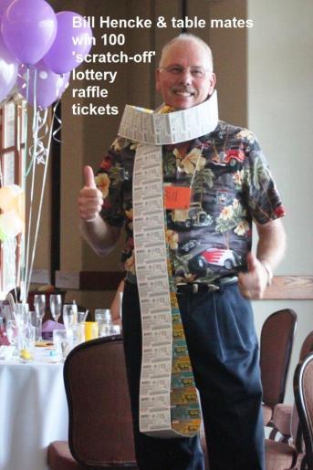 100 scratch off raffle tickets won by Bill