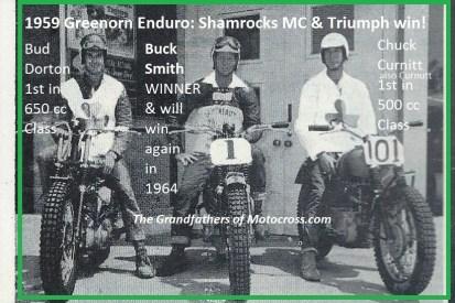 1959 Greenhorn a14 Triumph, winner BUCK SMITH, Bud Dorton, Chuck Curnutt