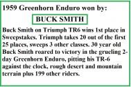 1959 Greenhorn a3 on Triumph, winner Buck Smith & won in 1964
