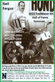 1960 Greenhorn r30 Neil Fergus wins Amateur 126-200 cc & 2015 TrailBlazers HoF