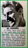 1961 Al Rogers & Big Bear personal quote