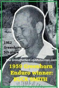 1962 Greenhorn P6 1959 Greenhorn 1st winner BUCK SMITH
