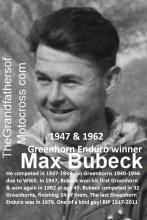 1962 Greenhorn a1 MAX BUBECK wins again